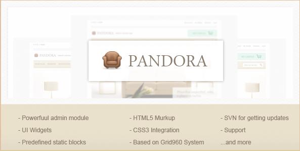 Pandora - Magento Theme