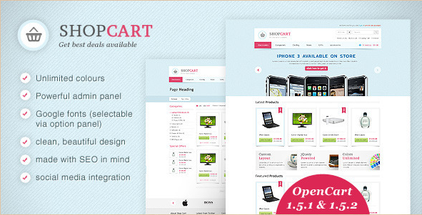 ShopCart - Powerful OpenCart Template