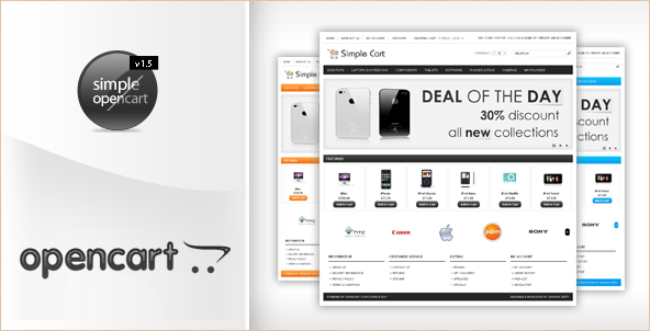 SimpleCart - OpenCart Template 12 styles