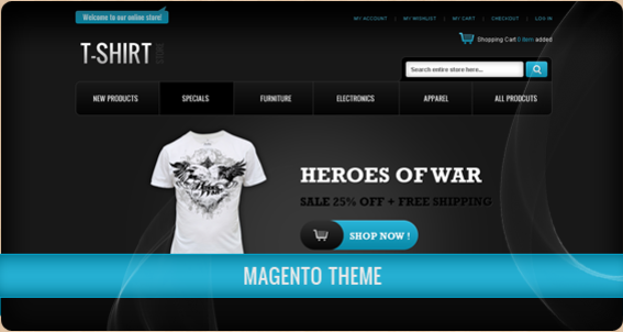 20 best Magento Templates - Best selling Magento Themes for 2012