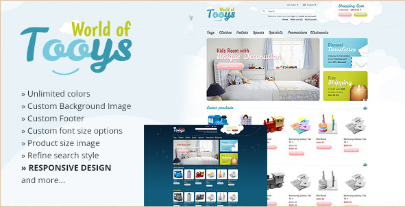 WorldofTooys - Responsive OpenCart Theme