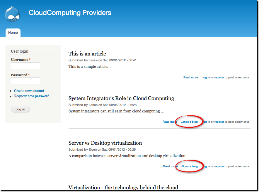 Tutorial – Adding, Configuring and Using the Drupal Blog Module