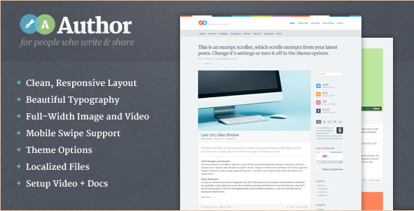 Author - WordPress Blog Theme