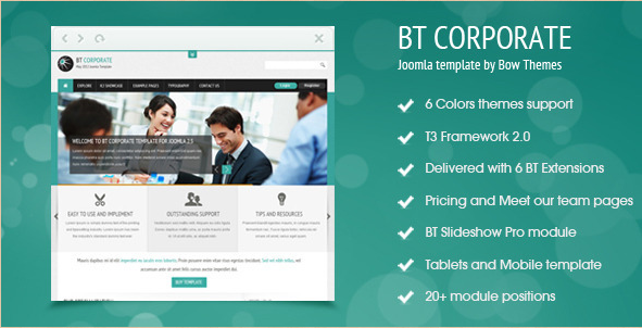 Discover 20 new joomla templates for 2012 bt corporate business joomla 25 template flashek Gallery