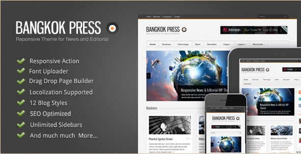 Bangkok Press - Responsive Editorial Theme