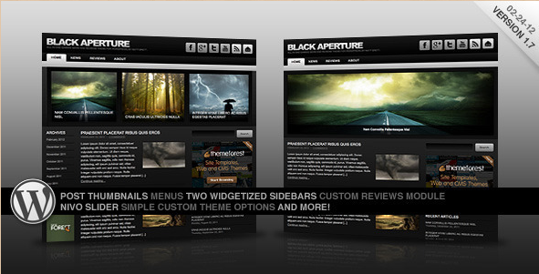 Black Aperture - WordPress News Theme
