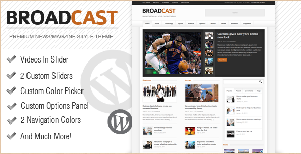 Broadcast - News WordPress Theme