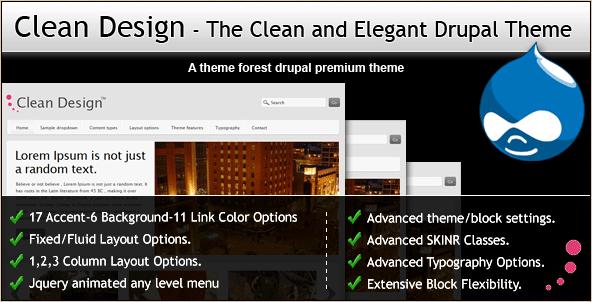 Clean Design - Elegant Drupal Theme
