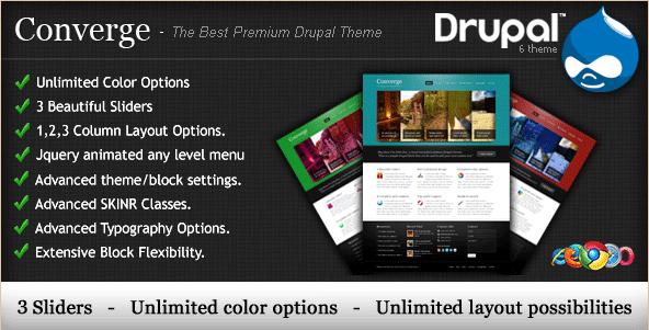 Converge - Premium Drupal Theme