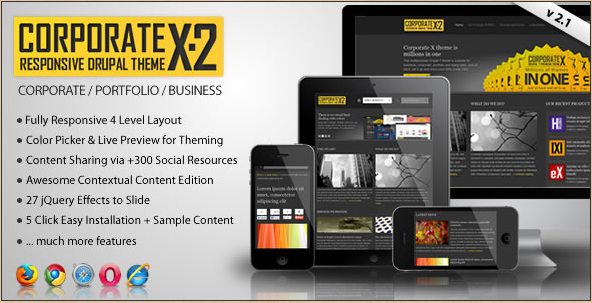 Top 20 best Drupal themes in 2012