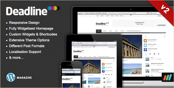 Deadline - Best WordPress Magazine Theme of 2012