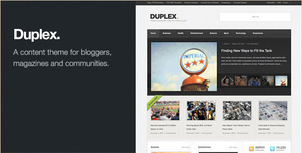 Duplex - Community Blog Theme