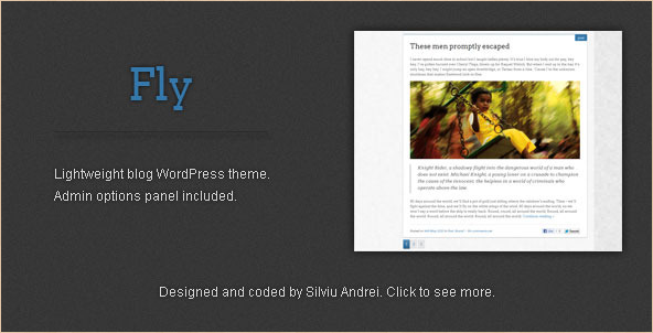 Fly - WordPress Blog Template