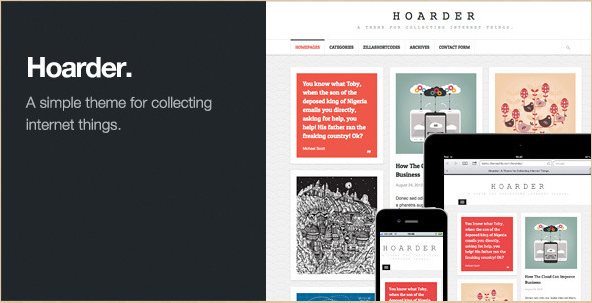 Hoarder - Responsive WordPress Blog Theme