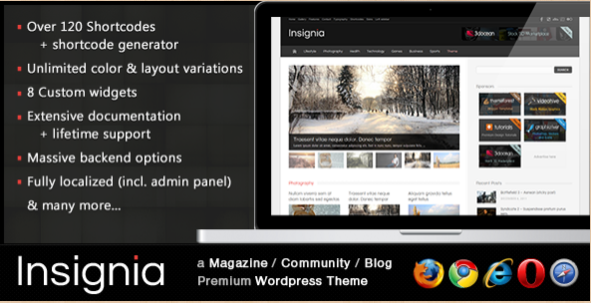 Insignia - Community WP blog theme
