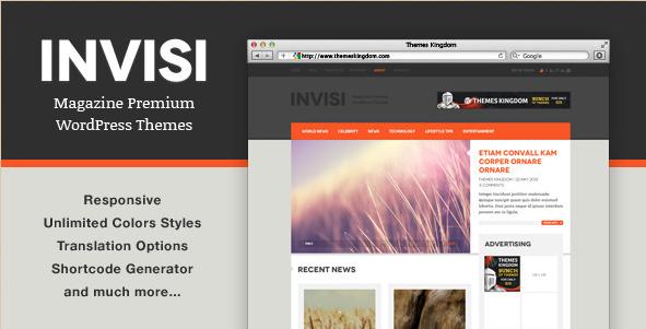 Invisi - Responsive News WordPress Theme