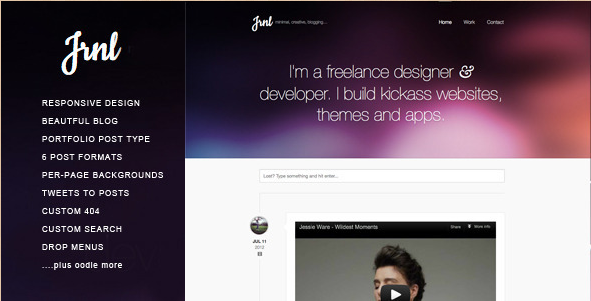 JRNL - Responsive WordPress Creative Theme