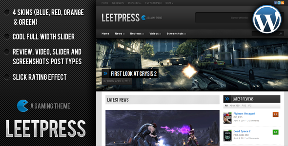 LeetPress - WordPress Gaming Theme