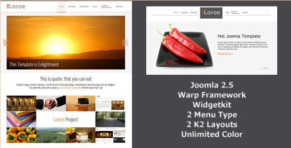 Loroe - Responsive Joomla Template