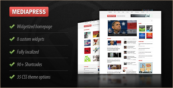 Mediapress - Ultimate WordPress News Theme