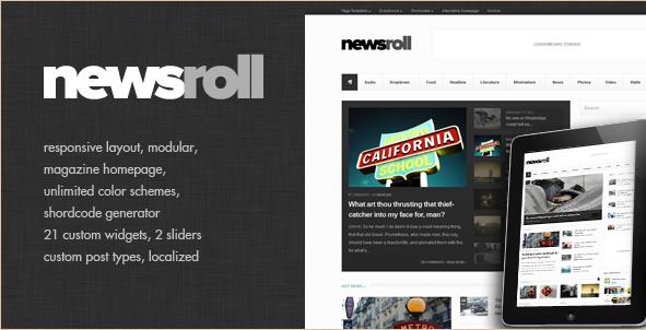 Newsroll - Responsive Magazine Theme