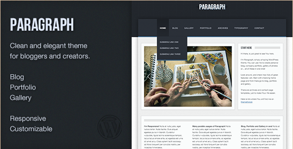 Paragraph - Premium WordPress Theme