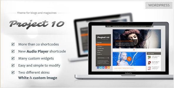Project 10 - WordPress Magazine Theme