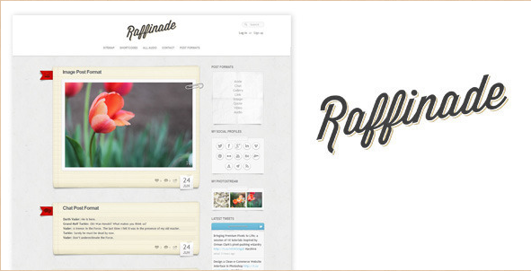Raffinade - WordPress Tumblog Theme