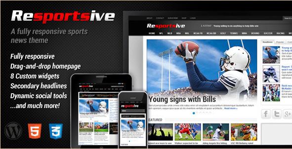 Resportsive - Responsive Sports News Theme