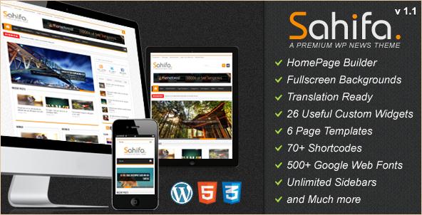 Sahifa - Responsive WordPress News Template
