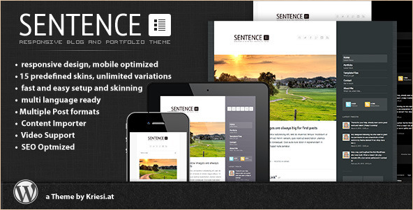 Sentence - Premium WordPress Blog Theme