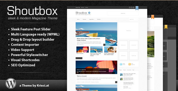 Shoutbox - WP Magazine Theme