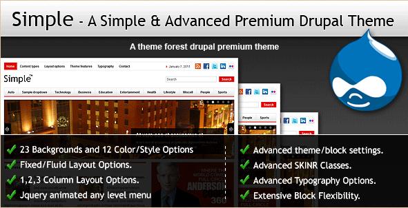 Simple - Premium Drupal theme