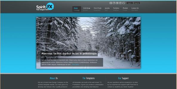 SpiritFX - Joomla Business Template
