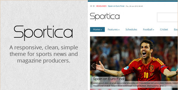 Sportica - Responsive Sports News Template
