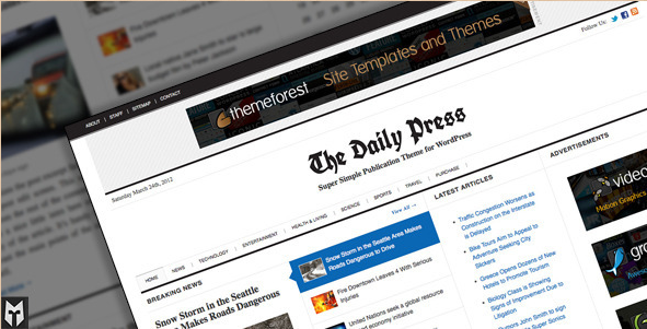 The Daily Press - WordPress Publication Theme