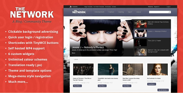 The Network - Magazine WordPress Theme