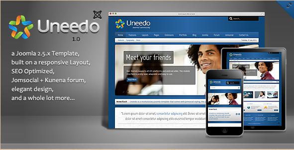 Uneedo - Joomla 2.5 Theme
