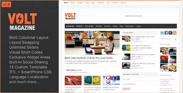 Volt - WordPress Magazine Template