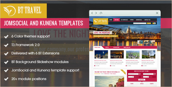 BT Travel - JomSocial Kunena Theme