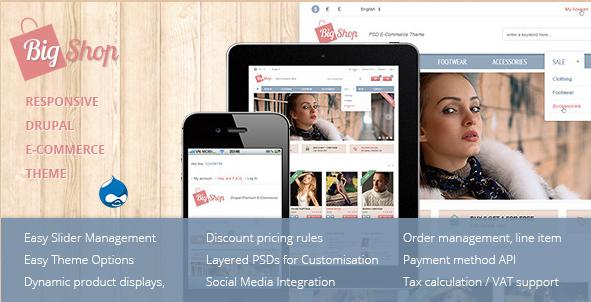 Bigshop - Responsive Drupal eCommerce Theme