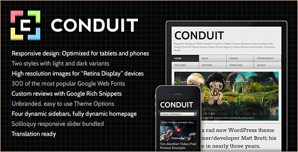 Conduit - WordPress Retina Theme