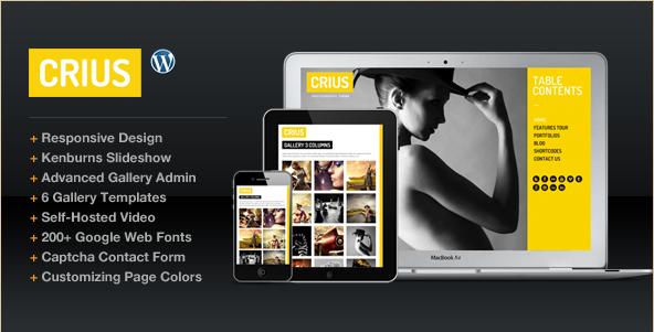 Crius - Creative Photographic WordPress Theme