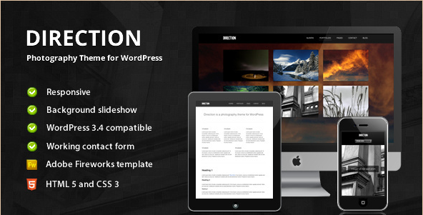 Direction - Photography Theme for WordPress