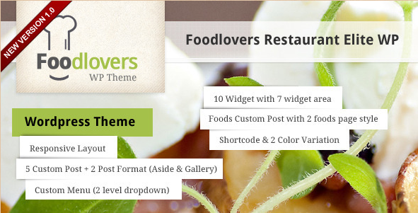 Foodlovers - Elite WP Restaurant Theme