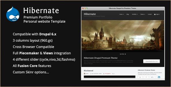 Hibernate - Premium Drupal Theme