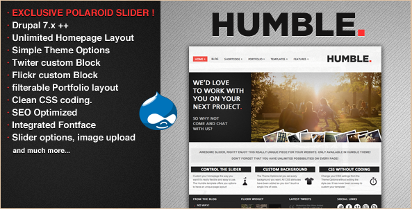 Humble - Drupal 7 theme