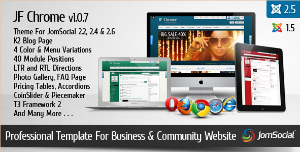 JF Chrome - Joomla 2.5 JomSocial Template