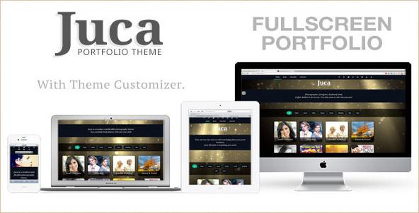 Juca - Fullscreen Portfolio WordPress Template