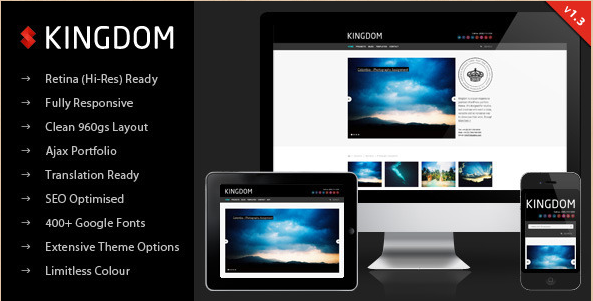 Kingdom - Retina Responsive WP Template